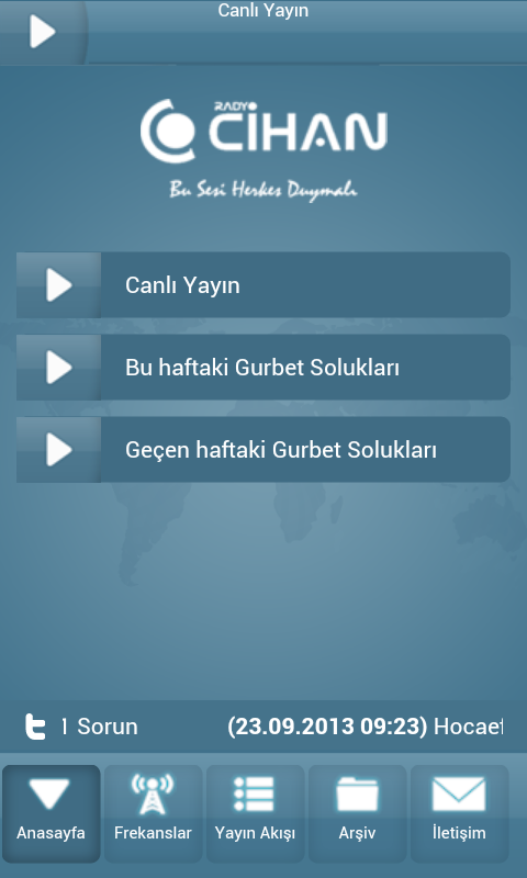 Radyo Cihan - screenshot