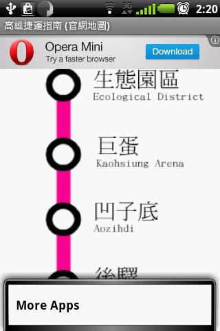 Gaoxiong MRT Map - screenshot