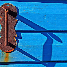 Door handle by Matevz Skerget - Artistic Objects Other Objects ( handle, shadow, door, rust, iron )