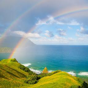 Rainbows by Victor Roman - Landscapes Weather ( d300, travel, batanes, nikon, landscape,  )