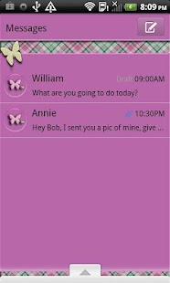 GO SMS THEME/PlaidButterflys4 - screenshot thumbnail