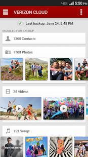 Verizon Cloud - screenshot thumbnail