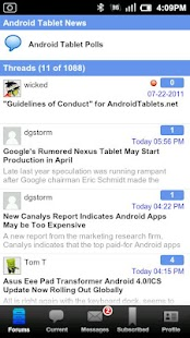 Android Tablet Forum - screenshot thumbnail
