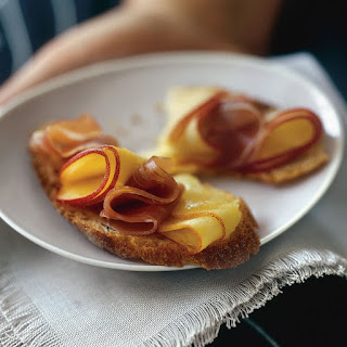 Nectarine and Prosciutto Crostini