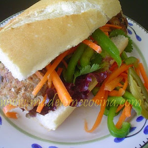 Vietnamese Pork Meatball Baguette
