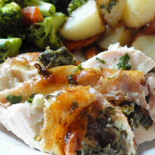 Roasted Chicken Dinner In One Pan.