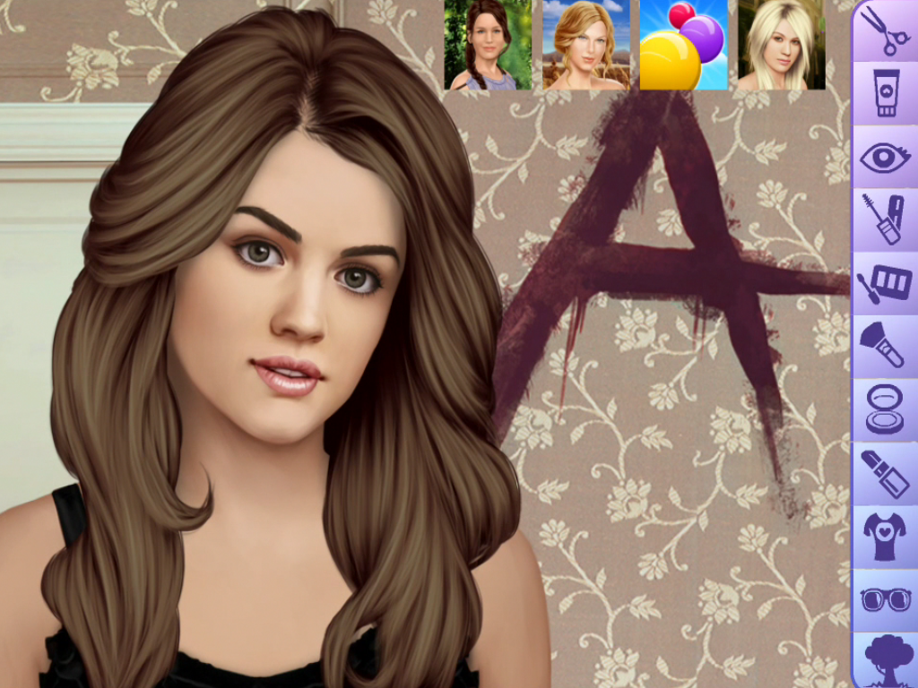 Lucy Hale Make Up Game - screenshot