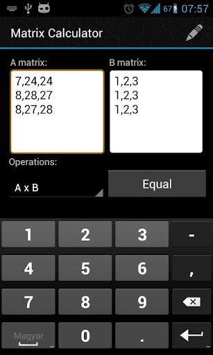 Matrix Calculator