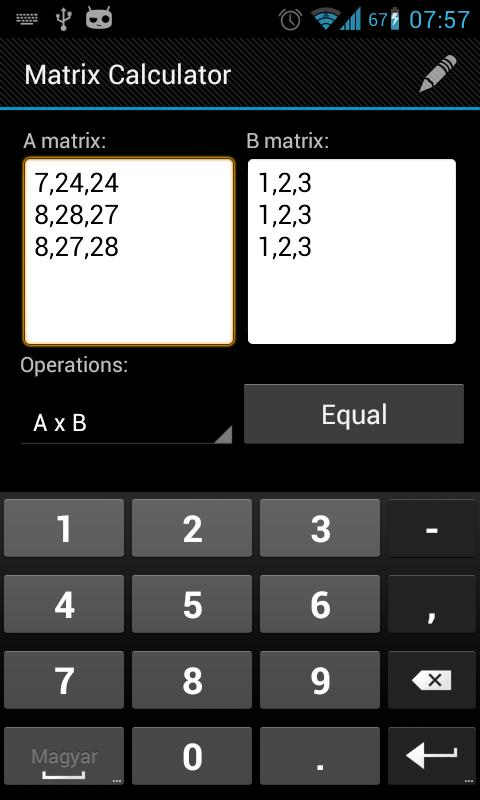 Matrix Calculator- screenshot