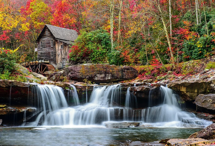 Babcock Grist Mill by Jim Harmer - Buildings & Architecture Public & Historical ( landscape )