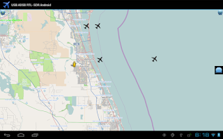 Screenshot of ADS-B on Android