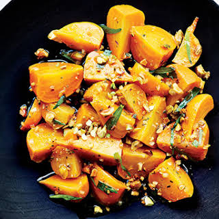 Marinated Beets with Pistachios and Tarragon.