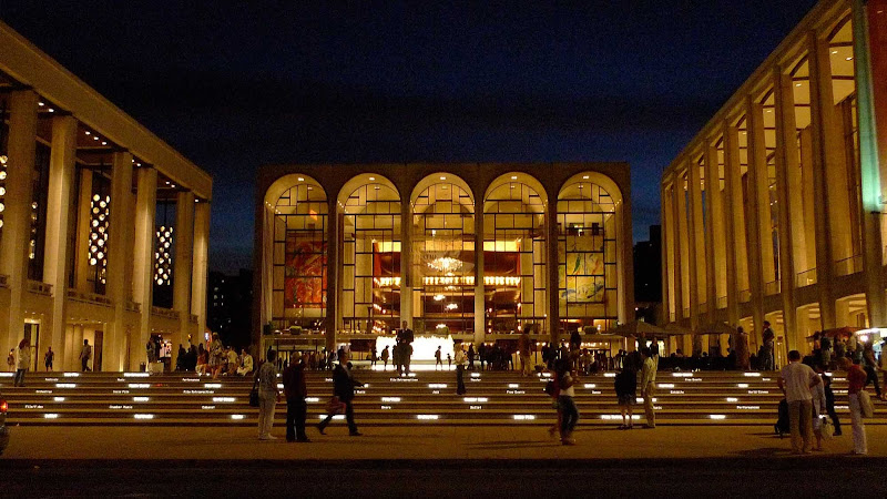 Lincoln Center in midtown Manhattan at night.