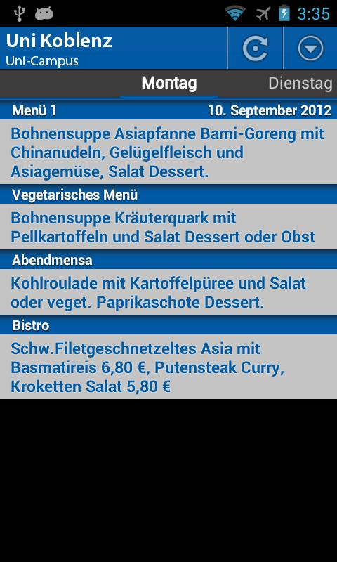 Mensa Koblenz- screenshot