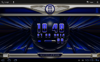 Digi Clock Widget Blue Saphir APK screenshot thumbnail 7