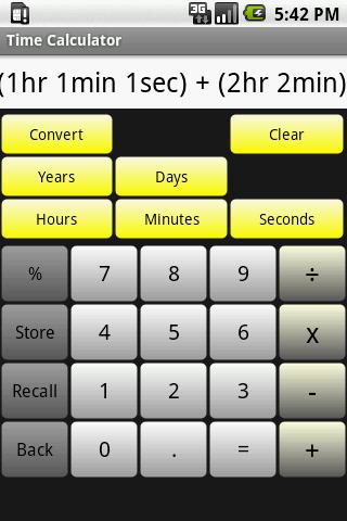Time Calculator- screenshot