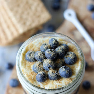 {No Bake} Vanilla Bean Cheesecake Blueberry Pie