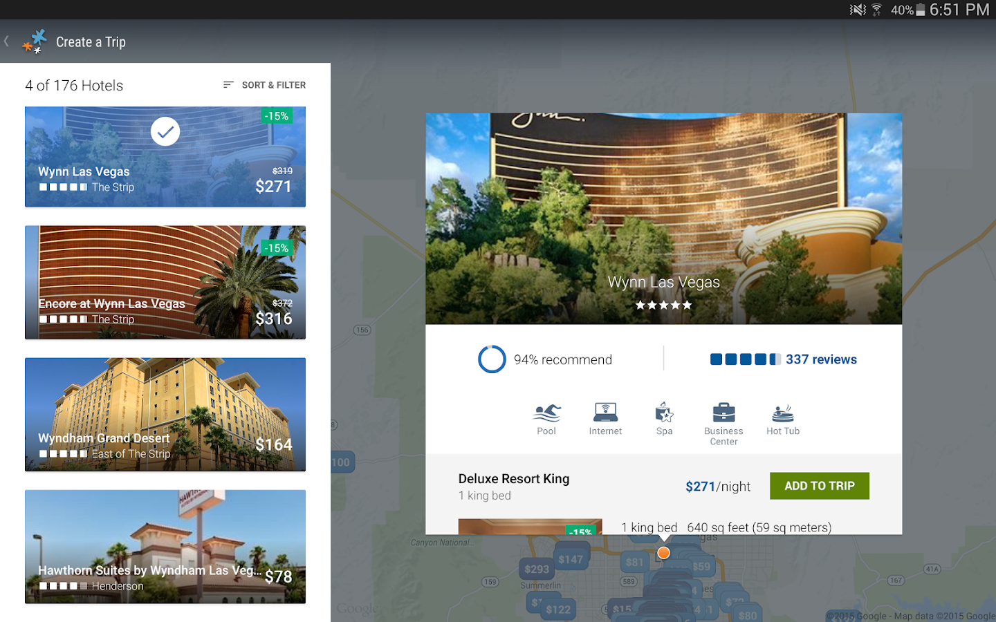 Travelocity Hotels & Flights - screenshot
