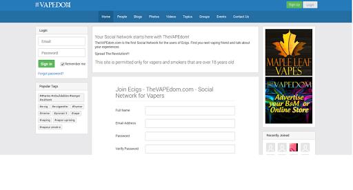 theVapedom Social Network