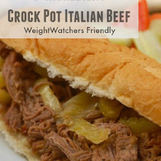 3 Ingredient Weight Watchers Crock Pot Italian Beef Recipe