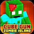 Cube Gun 3D : Zombie Island 1.0 icon