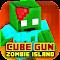 Cube Gun 3D : Zombie Island 1.0 Apk