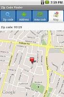 Screenshot of Zip Code Finder
