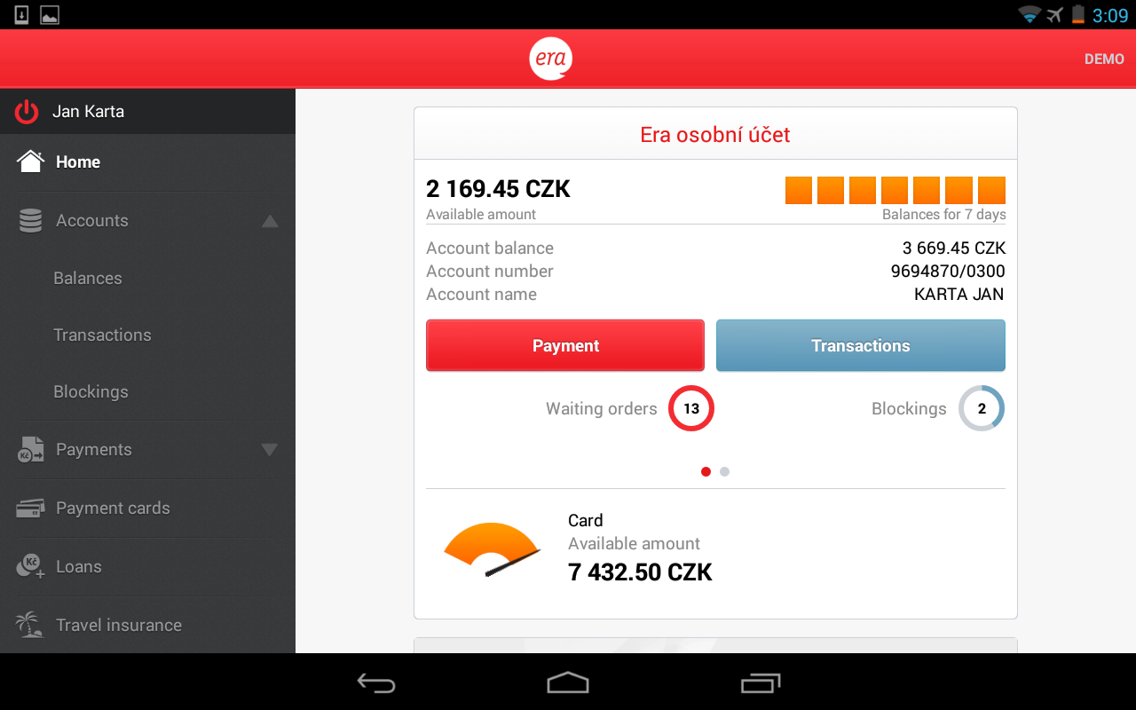 Era smartbanking - screenshot