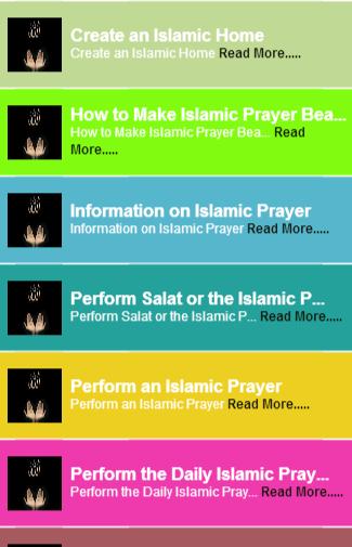 Islamic prayer guide