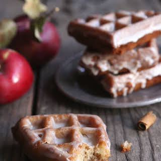 Apple Fritter Waffle Doughnuts.