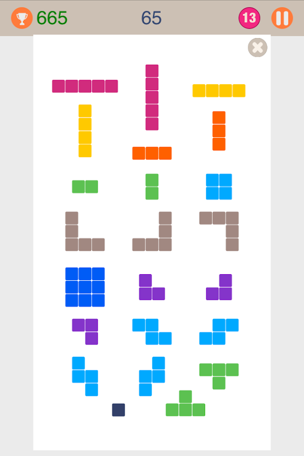 13 Cells - Block Puzzle- screenshot