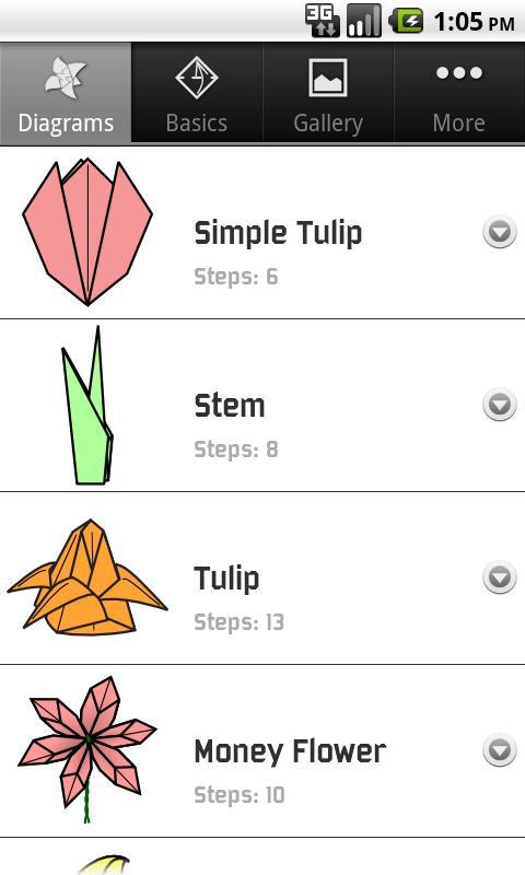 Origami Flowers- screenshot
