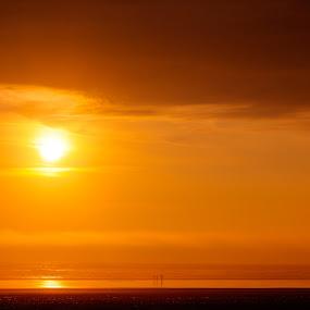 Summer Orange by Nolan Hauke - Landscapes Sunsets & Sunrises ( sunset, summer, warmth, beach, emotion )
