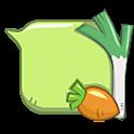 GO SMS vegetables bubble Theme