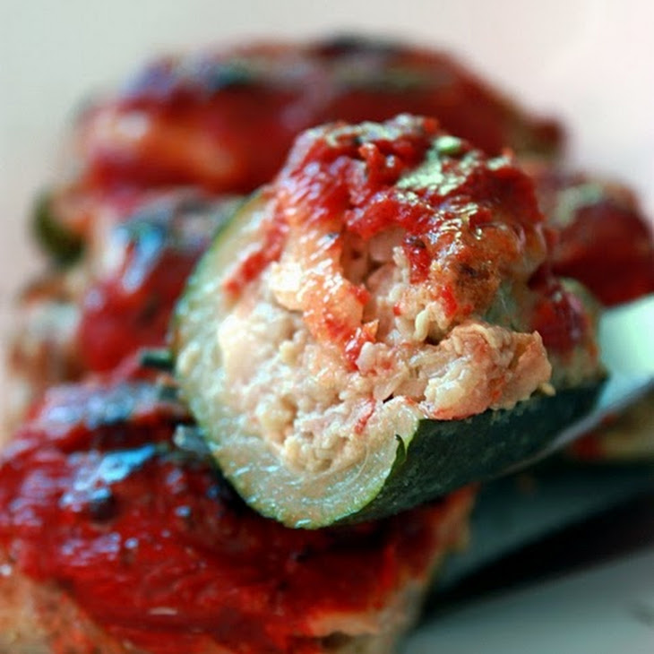 Meat-Filled Zucchini in a Tomato Sauce Recipe
