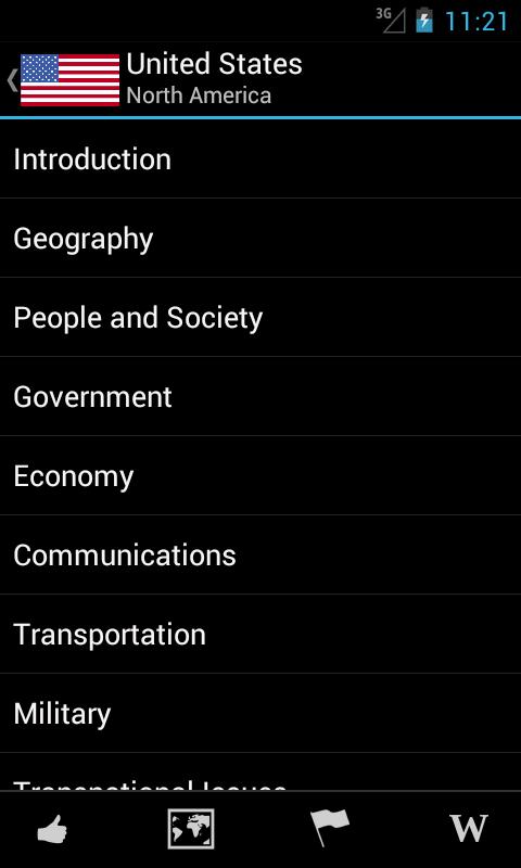 World Factbook Pro- screenshot