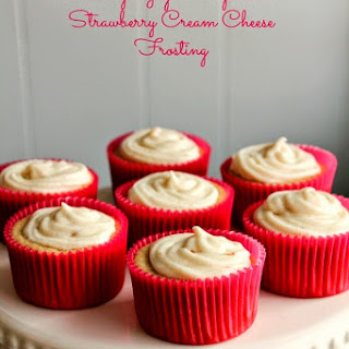 Strawberry Yogurt Cupcakes with Strawberry Cream Cheese Frosting