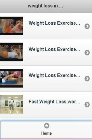 Weight Loss In A Week Exercise - screenshot