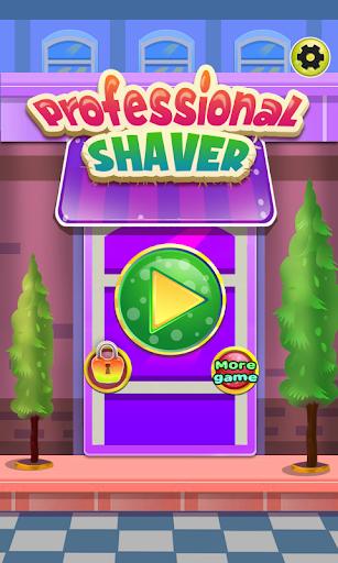 鬍子剃須刀遊戲的女孩