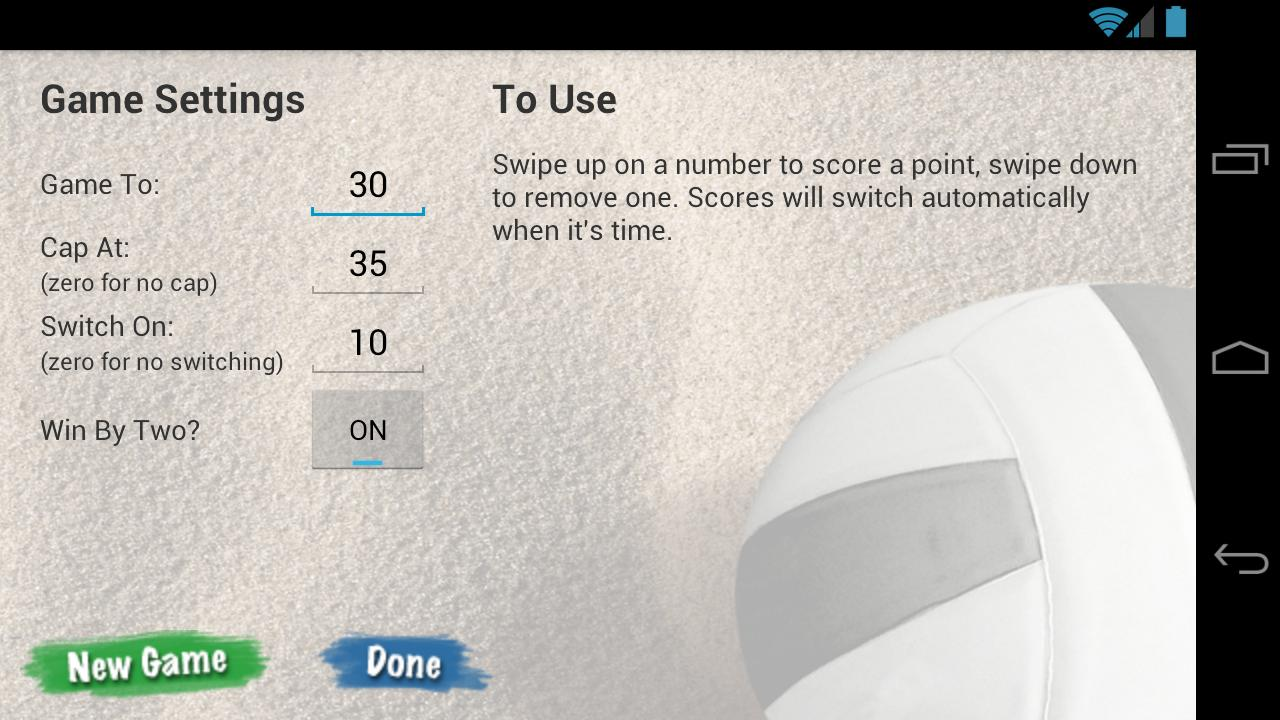 VBall Scoreboard- screenshot
