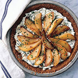 Pear-Gorgonzola Tart with Granola Crust