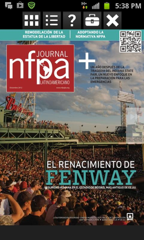 NFPA Journal Latinoamericano- screenshot