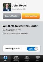 Screenshot of Meeting Burner