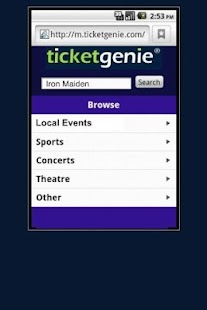 Bruce Springsteen Tickets - screenshot thumbnail