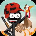 Stickman Turkey Hunter Free icon