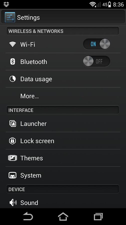 Alloy Blue Theme CM10.1 - screenshot