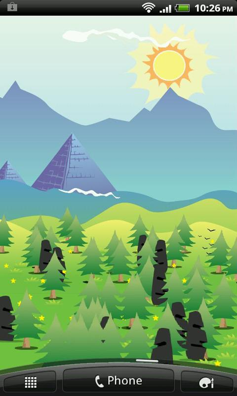 Vectorized Mountains LWP HD- screenshot