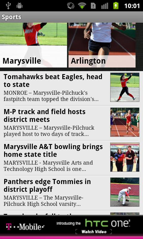 Marysville Globe - screenshot