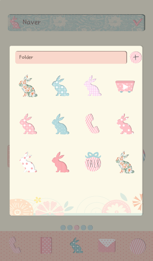 個人化必備APP下載|Flower rabbit Dodol Theme 好玩app不花錢|綠色工廠好玩App