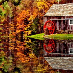 And the Wheel Turns by Janet Lyle - Buildings & Architecture Other Exteriors ( autumn, fall )